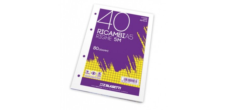 RICAMBI A5 80gr 40fg 4MM BLASETTI