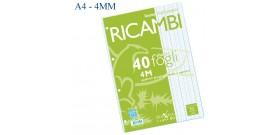 RICAMBI MAXI A4 80gr 40fg 4MM PIGNA