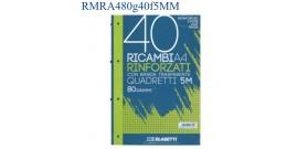 RICAMBI MAXI A4 80gr 40fg RINFORZATI 5MM BLASETTI 2334