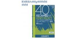 RICAMBI MAXI A4 80gr 40fg RINFORZATI 4MM BLASETTI