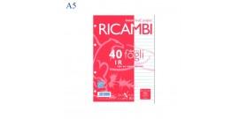RICAMBI QUADERNO A5 PIGNA 80gr 40fg 1R