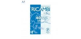 RICAMBI QUADERNO A5 PIGNA 80gr 40fg 5MM