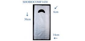 SHOPPER BIOCOMPOSTABILI FAGIOLO 14+3+3x30cm 5KG