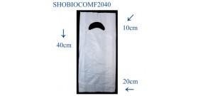 SHOPPER BIOCOMPOSTABILI FAGIOLO 20+5+5x40cm 5KG