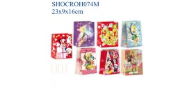SHOPPER CARTA DISNEY 23x9x16cm ASSORTITE x12