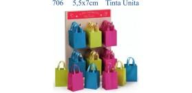 ESPOSITORE 60 SACCHETTINI MINI 5,5x7cm TINTA UNITA